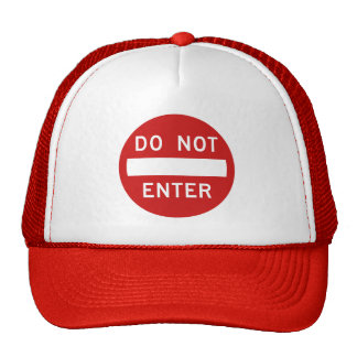 Do Not Enter Sign Hats