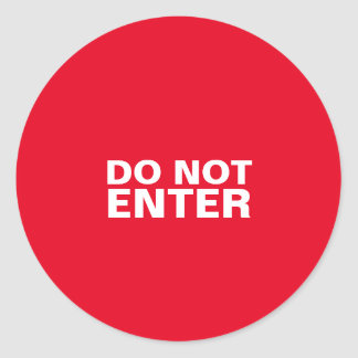 Do Not Enter Sticker