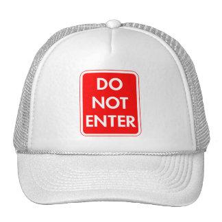 Do Not Enter Trucker Hats