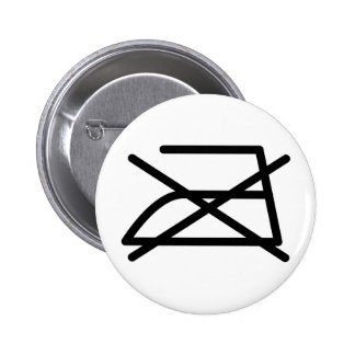 DO NOT IRON! 2 INCH ROUND BUTTON