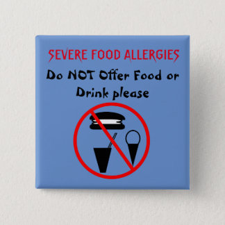 Do Not Offer Food or Drink Button for Food Allergy