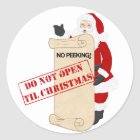 Do not open til Christmas Classic Round Sticker