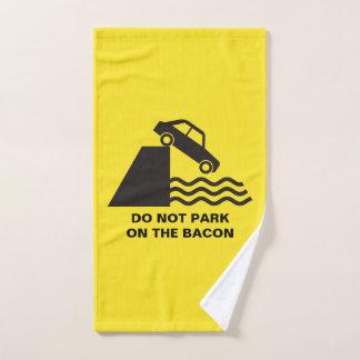 Do not Park on the Bacon Bath Towel Set