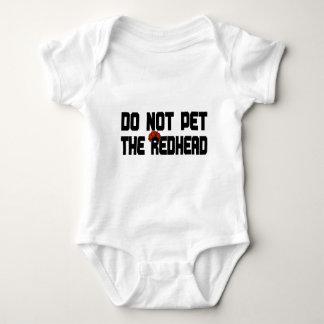 Do Not Pet The Redhead (w/ Wig) Baby Bodysuit