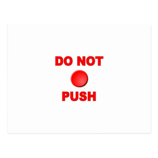 Do Not Push Button Postcard