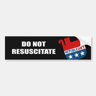 Do Not Resuscitate Bumper Sticker