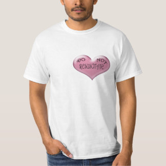 Do Not Resuscitate Pink Heart T-Shirt