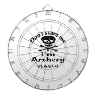 Do Not Scare Me I Am Archery Player Dartboard With Darts