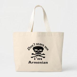 Do Not Scare Me I Am Armenian Large Tote Bag