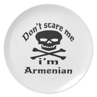 Do Not Scare Me I Am Armenian Party Plates