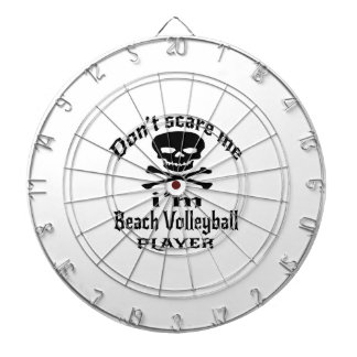 Do Not Scare Me I Am Beach Volleyball Player Dart Board