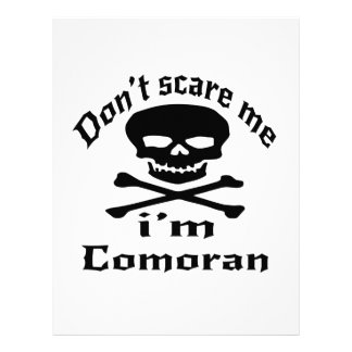 Do Not Scare Me I Am Comoran Letterhead