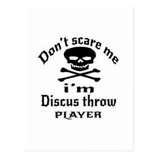 Do Not Scare Me I Am Discus throw Player Postcard