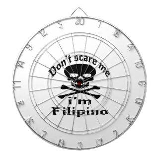 Do Not Scare Me I Am Filipino Dartboard