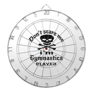 Do Not Scare Me I Am Gymnastics Player Dartboard