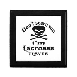 Do Not Scare Me I Am Lacrosse Player Keepsake Box