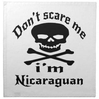 Do Not Scare Me I Am Nicaraguan Cloth Napkin