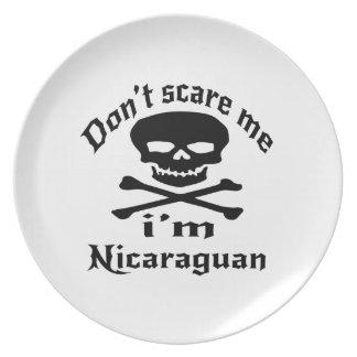 Do Not Scare Me I Am Nicaraguan Plate