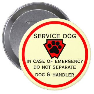 Do Not Separate Dog and Handler 4 Inch Round Button