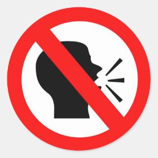 Do not speak classic round sticker