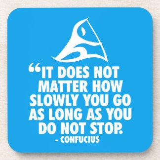 DO NOT STOP - Canoe Sprint Motivational Drink Coaster