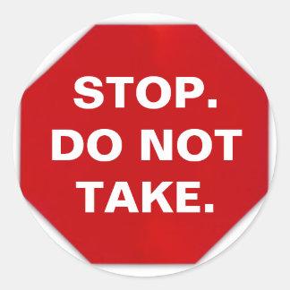 Do Not Take label (sheet of 20)