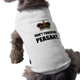 Do Not Touch Me Peasant Shirt
