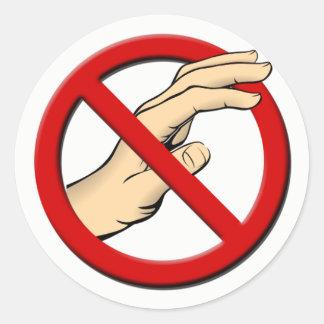 Do Not Touch Round Sticker