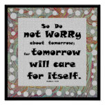 do not worry spiritual quote poster