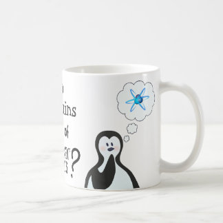 Do penguins dream of nuclear physics? coffee mug