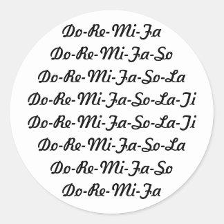 Do-Re-Mi-Fa-So-La-Ti Sticker