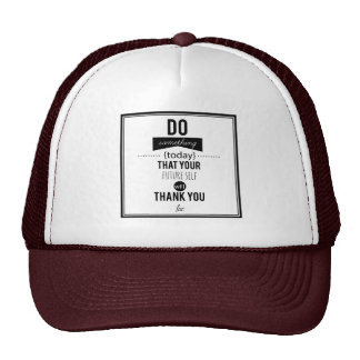 Do Something Decorative Typography Art Calligraphy Trucker Hat