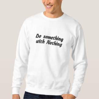 Do Something_Embroidered Shirt Sweatshirt