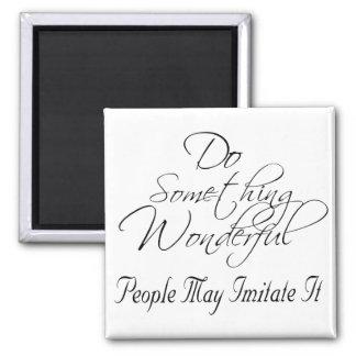 Do Something wonderful magnet