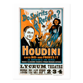 Do Spirits Return? Houdini Says NO - Proves It Postcard