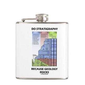 Do Stratigraphy Because Geology Rocks Grand Canyon Hip Flask