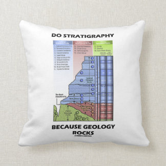 Do Stratigraphy Because Geology Rocks Grand Canyon Throw Pillow