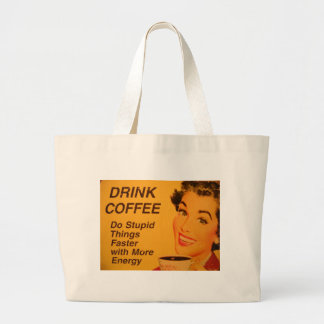 Do Stupid Things Faster Large Tote Bag