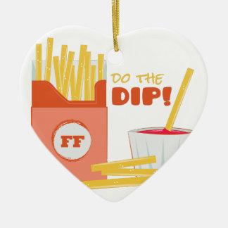 Do The Dip Ceramic Heart Ornament