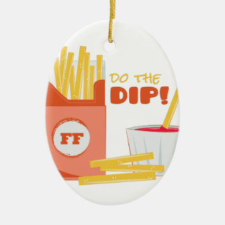 Do The Dip Ceramic Oval Ornament