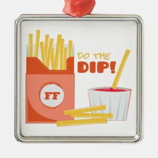 Do The Dip Silver-Colored Square Ornament