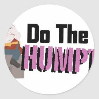 Do The Humpty Round Sticker