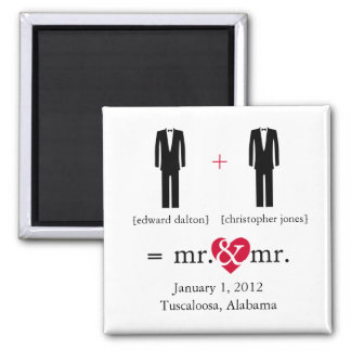 Do the Math Gay Save the Date Magnet