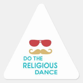 Do the Religious Dance Triangle Sticker