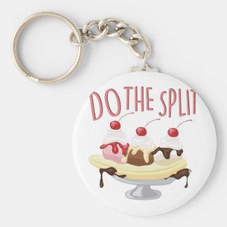 Do The Split Basic Round Button Keychain