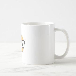 Do these glasses make me look happy? coffee mug