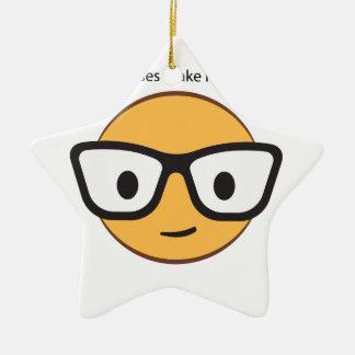 Do these glasses make me look happy? (yep!) ceramic star ornament