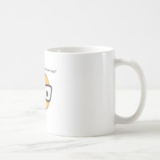 Do these glasses make me look happy? (yep!) coffee mug