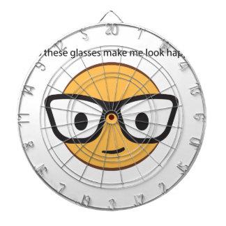 Do these glasses make me look happy? (yep!) dartboard