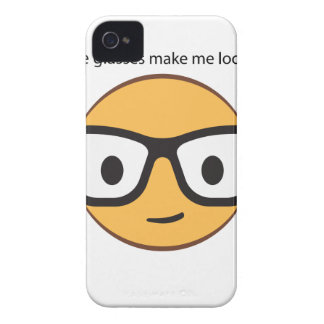 Do these glasses make me look happy? (yep!) iPhone 4 Case-Mate cases